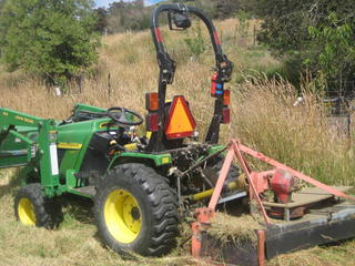 Rough area mower
