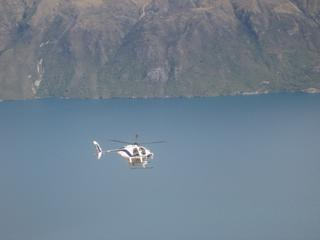 Over Lake Wakatipu (Remarkables)